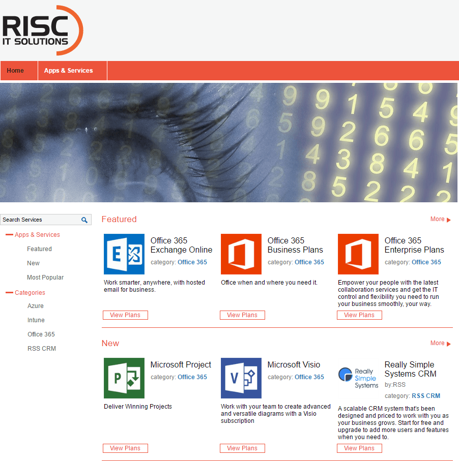 Risc It Solutions Cloud marketplace powered by the interworks.cloud