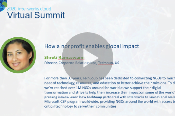 How a nonprofit enables global impact - Shruti Ramaswami, TechSoup 2